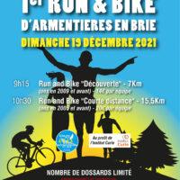 affiche bike and run 19 decembre 2021 armentieres en brie